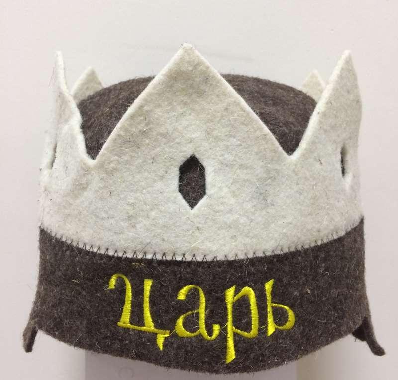 Шапка для сауны Корона Царь